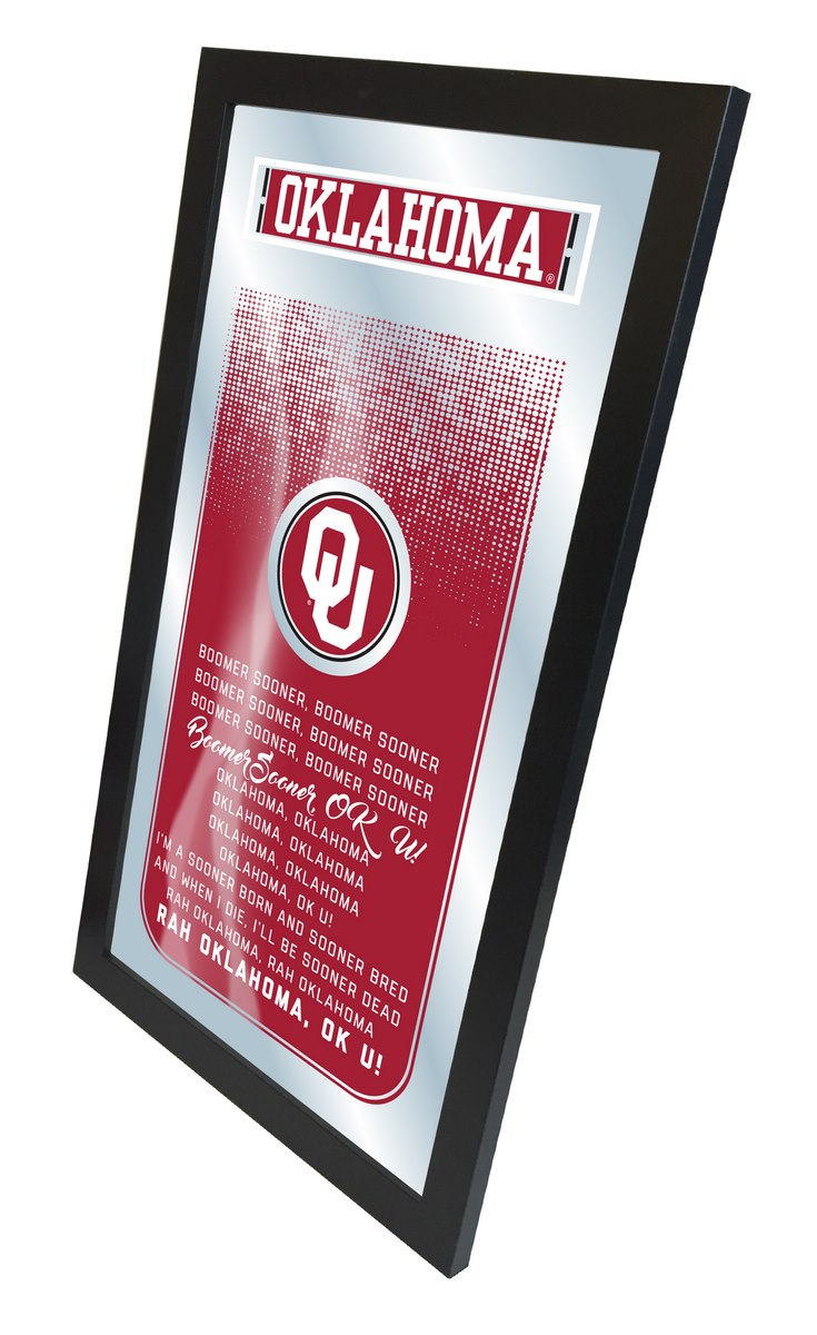Oklahoma Fight Song Mirror 15 x 26 - Man Cave Boutique
