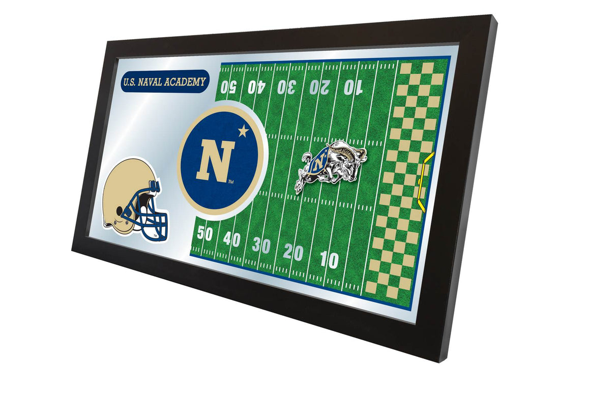 US Naval Academy Logo Football Mirror 15x26 - Man Cave Boutique