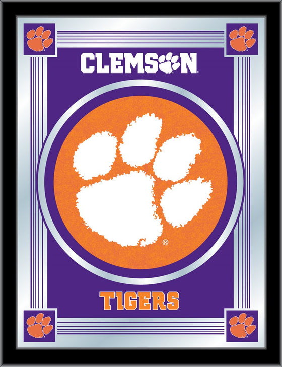 Clemson Logo Mirror 17 x 22 - Man Cave Boutique