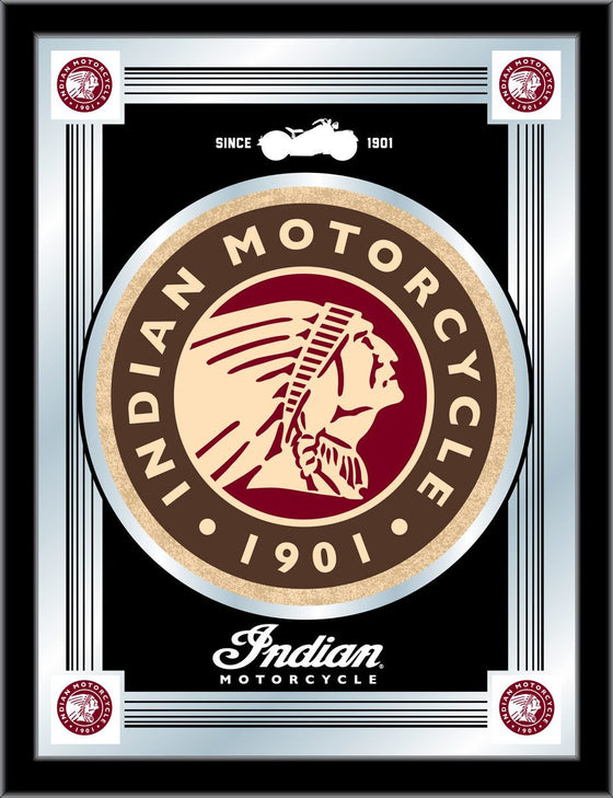 Indian Motorcycle Logo Mirror - Man Cave Boutique