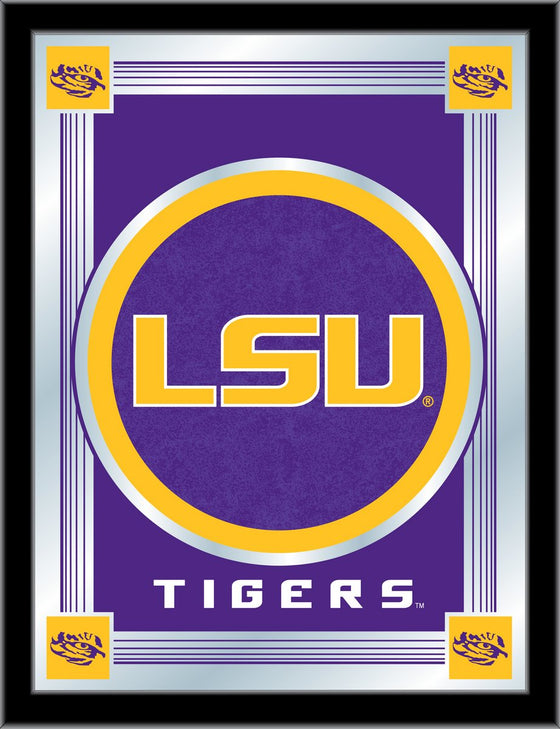 LSU Logo Mirror 17 X 22 - Man Cave Boutique
