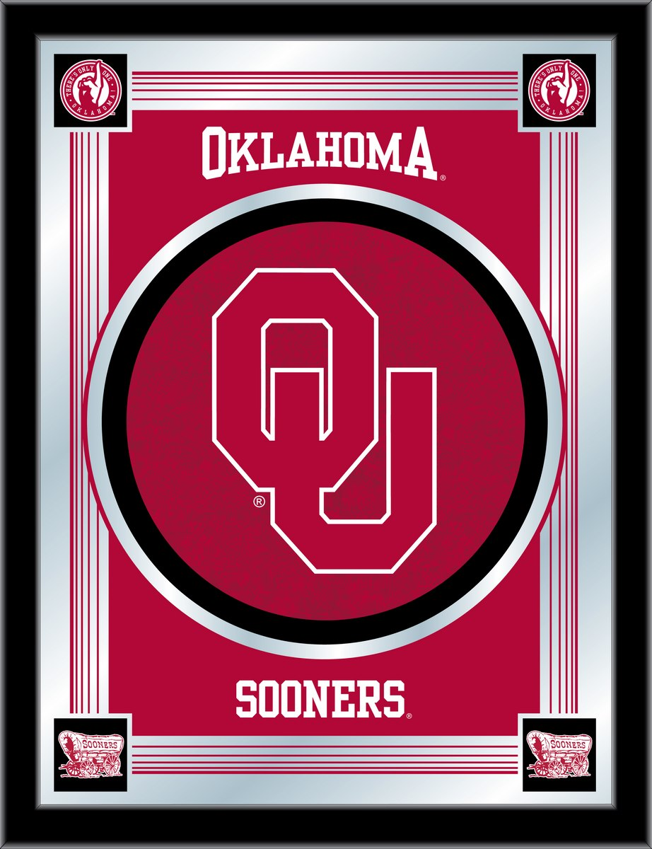 Oklahoma Logo Mirror 17 x 22 - Man Cave Boutique