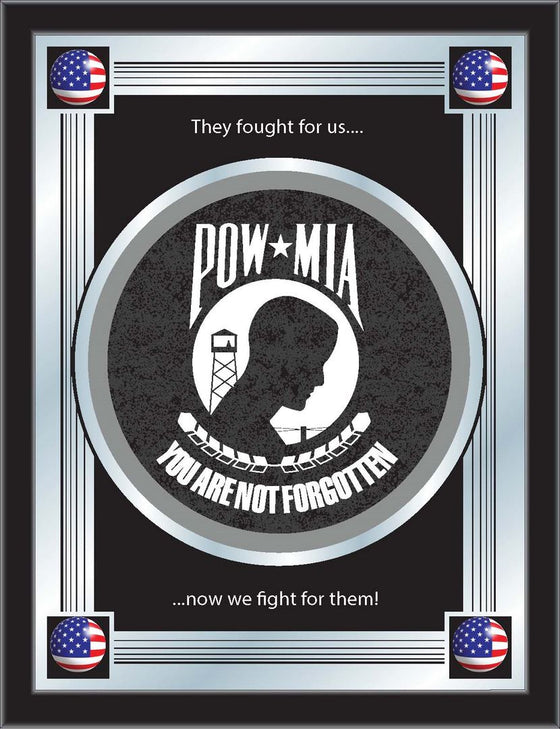 US POW/MIA Logo Mirror - Man Cave Boutique