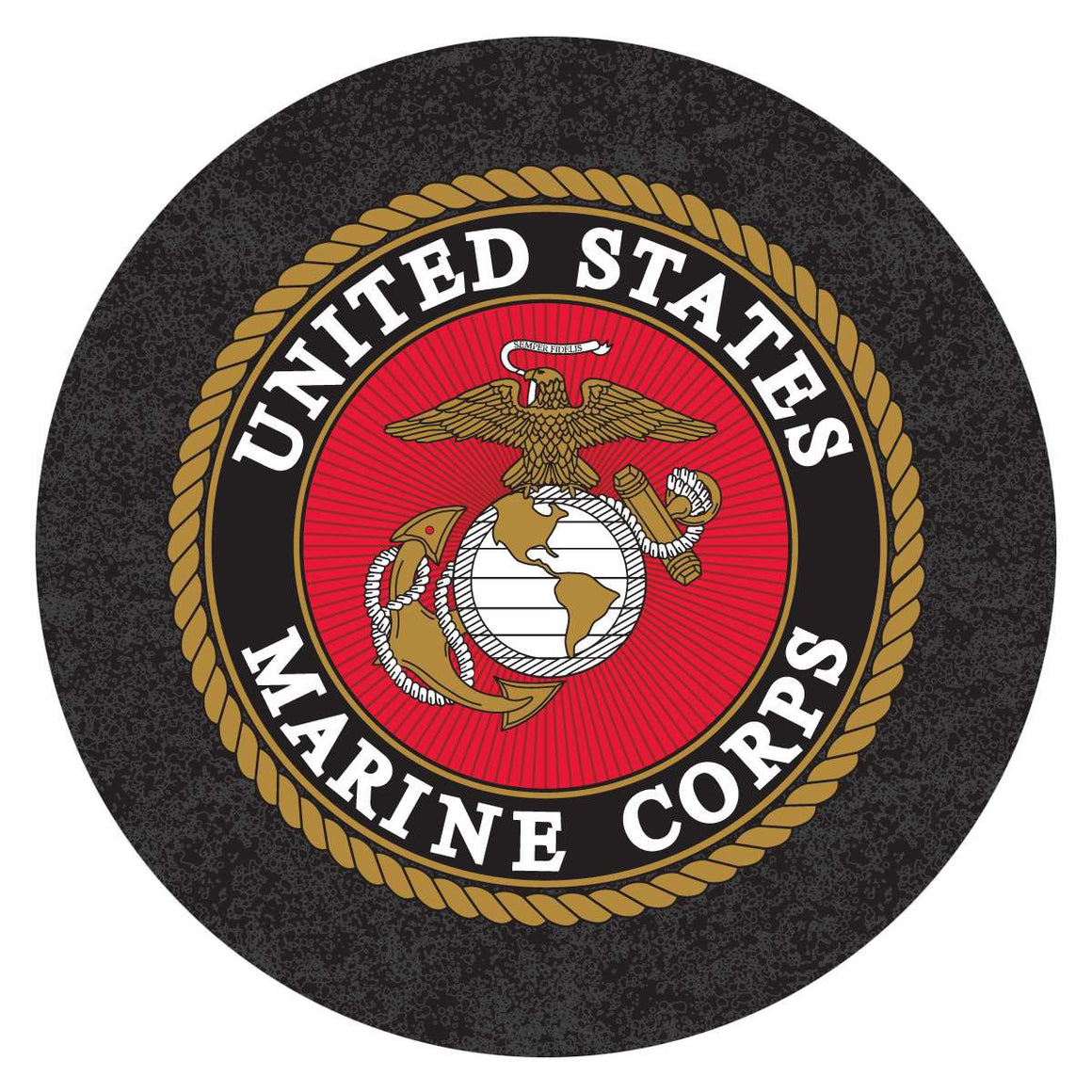 US Marines Pub Table - LED Lighted Logo L218 - Man Cave Boutique