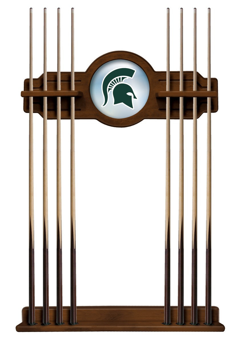 Michigan Sate University Logo Pool Cue Rack - Man Cave Boutique