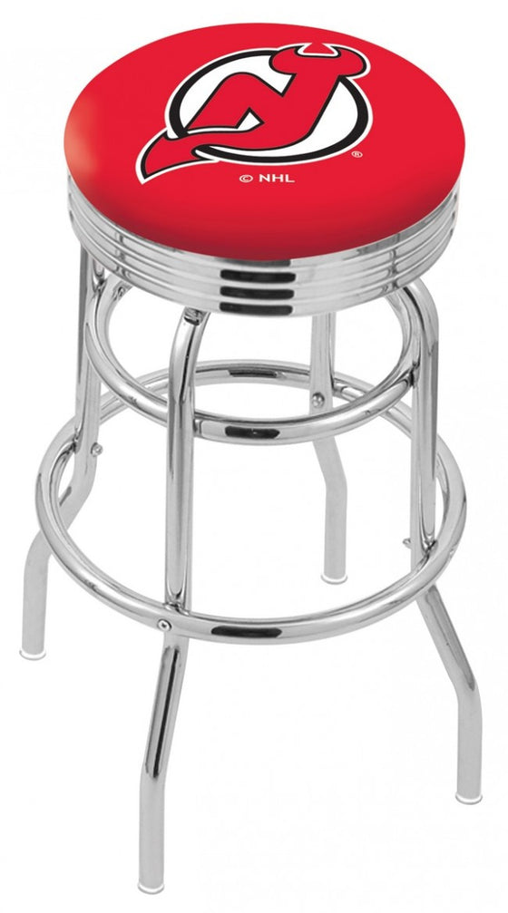 New Jersey Devils NHL Logo Bar Stool - Man Cave Boutique