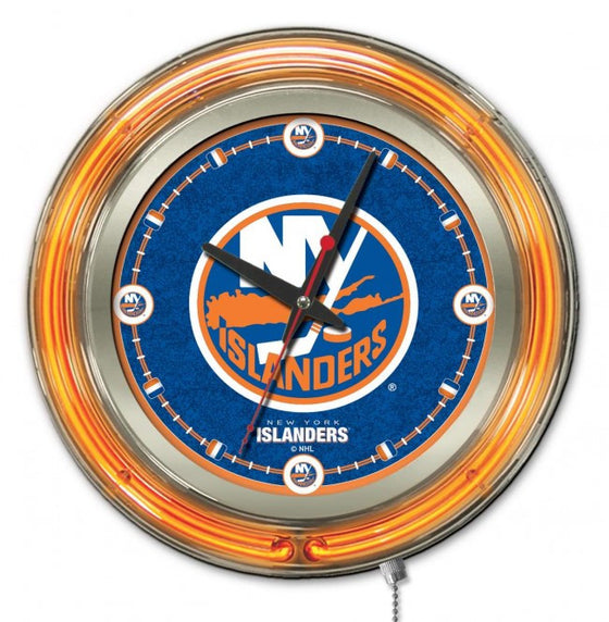 "15"" New York Islanders ® Logo Clock - Man Cave Boutique"