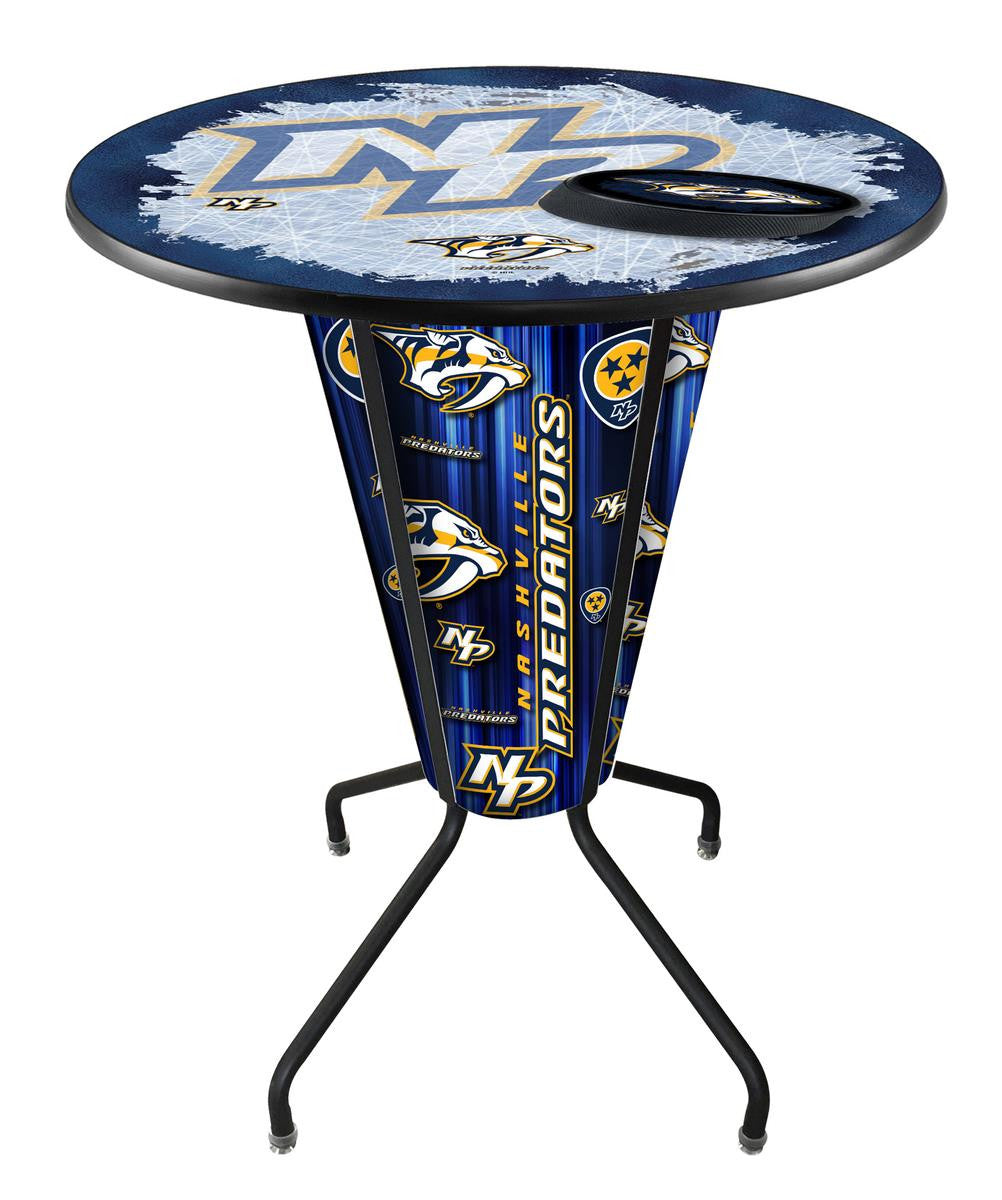 Nashville Predators NHL Logo LED Pub Table - Man Cave Boutique