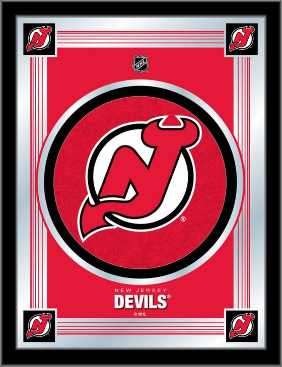 New Jersey Devils NHL ® Logo Mirror - Man Cave Boutique