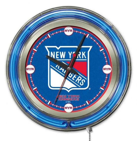 "15"" New York Rangers ® Logo Clock - Man Cave Boutique"