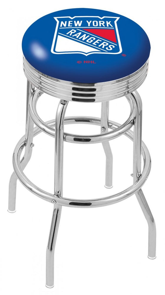 New York Rangers NHL Logo Bar Stool - Man Cave Boutique