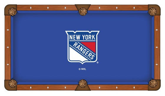 New York Rangers ® NHL Logo Pool Table Cloth - Man Cave Boutique