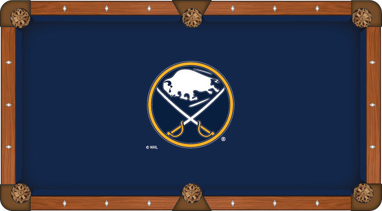 Buffalo Sabres NHL Logo 8' Pool Table with Bonus Cue Rack - Man Cave Boutique