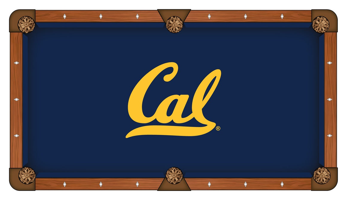 University of California Logo 8' Pool Table with Bonus Cue Rack - Man Cave Boutique