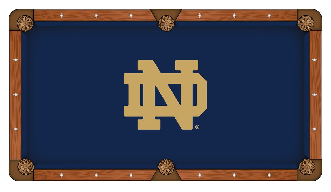 Notre Dame 8' Logo Pool Table with Bonus Cue Rack - Man Cave Boutique