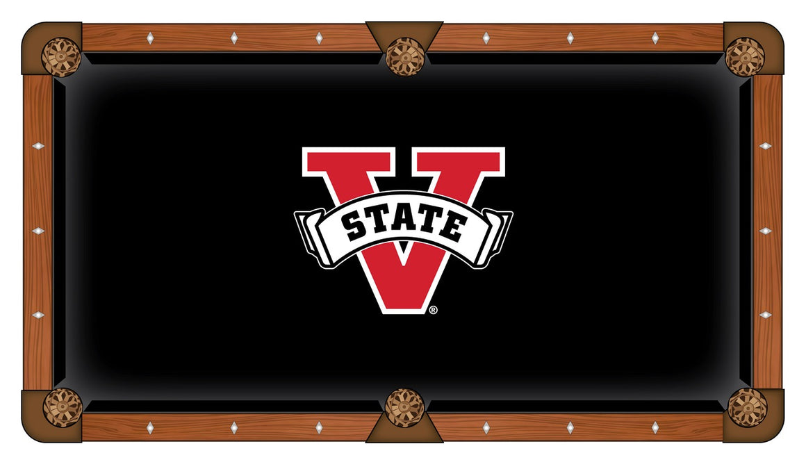 Valdosta State University 8' Pool Table with Bonus Cue Rack - Man Cave Boutique