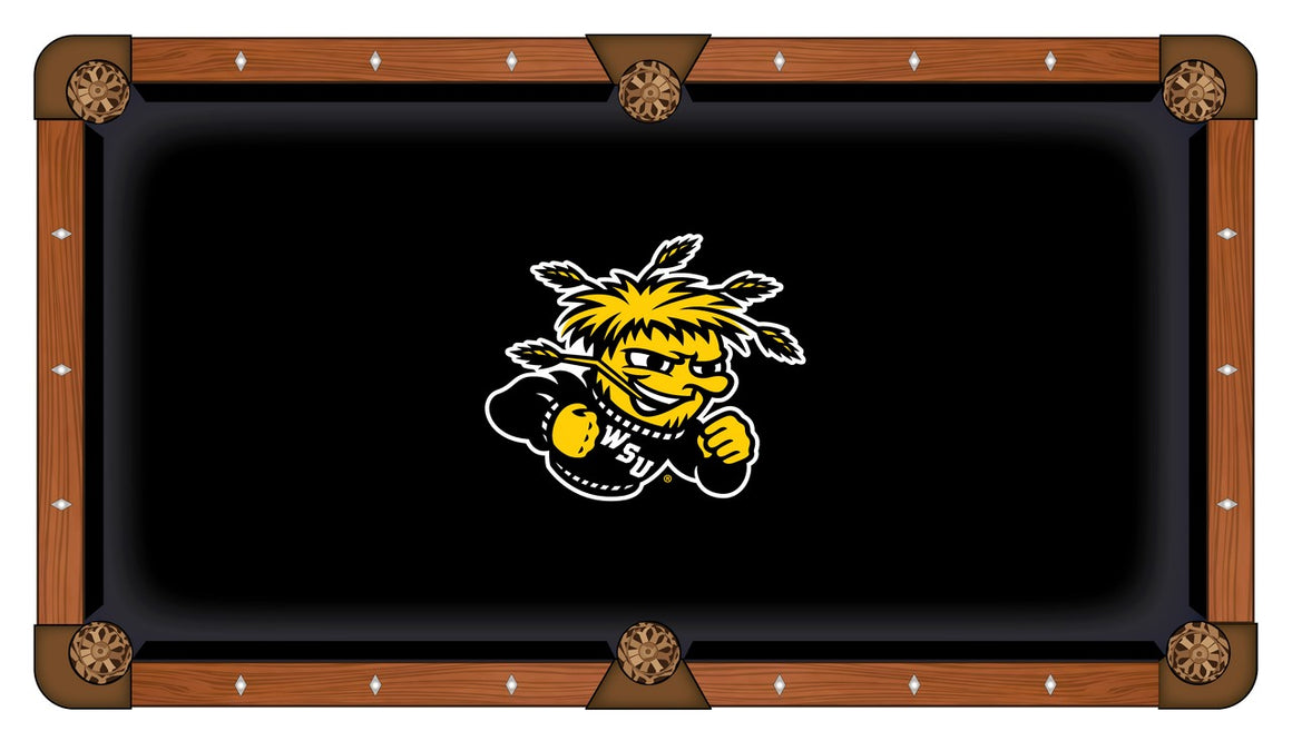 Wichita State University 8' Pool Table with Bonus Cue Rack - Man Cave Boutique