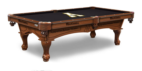 Appalachian State Logo 8' Pool Table with Bonus Cue Rack - Man Cave Boutique