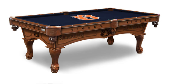 Auburn University Logo 8' Pool Table with Bonus Cue Rack - Man Cave Boutique