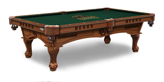 Baylor University Logo 8' Pool Table with Bonus Cue Rack - Man Cave Boutique