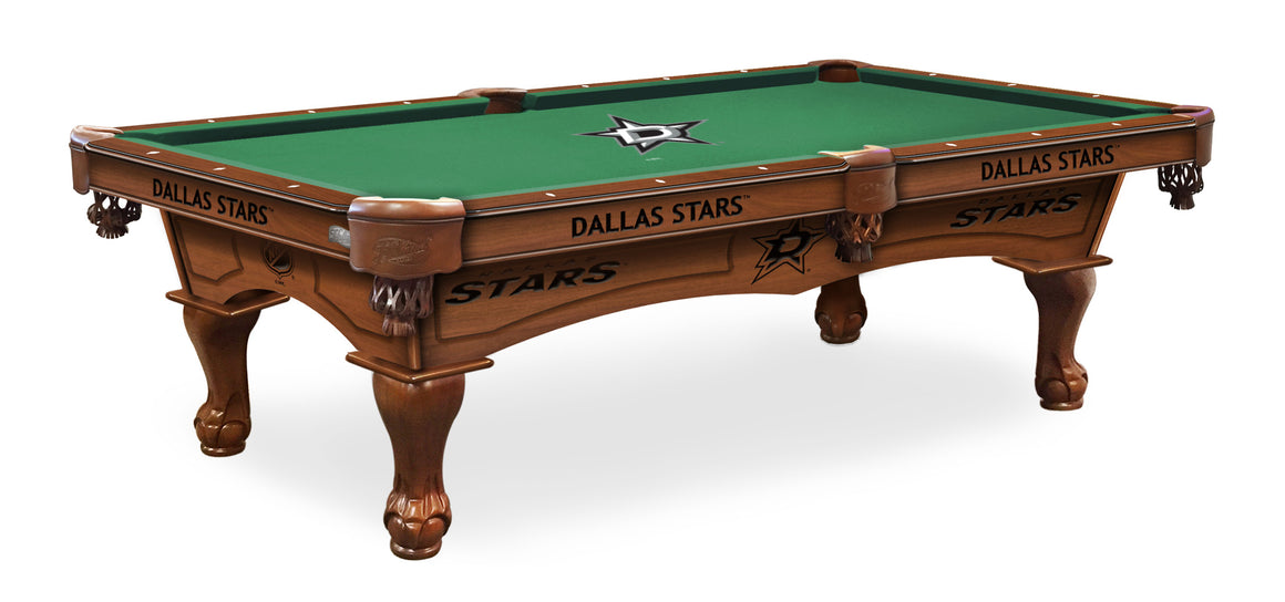 Dallas Stars NHL Logo 8' Pool Table with Bonus Cue Rack - Man Cave Boutique