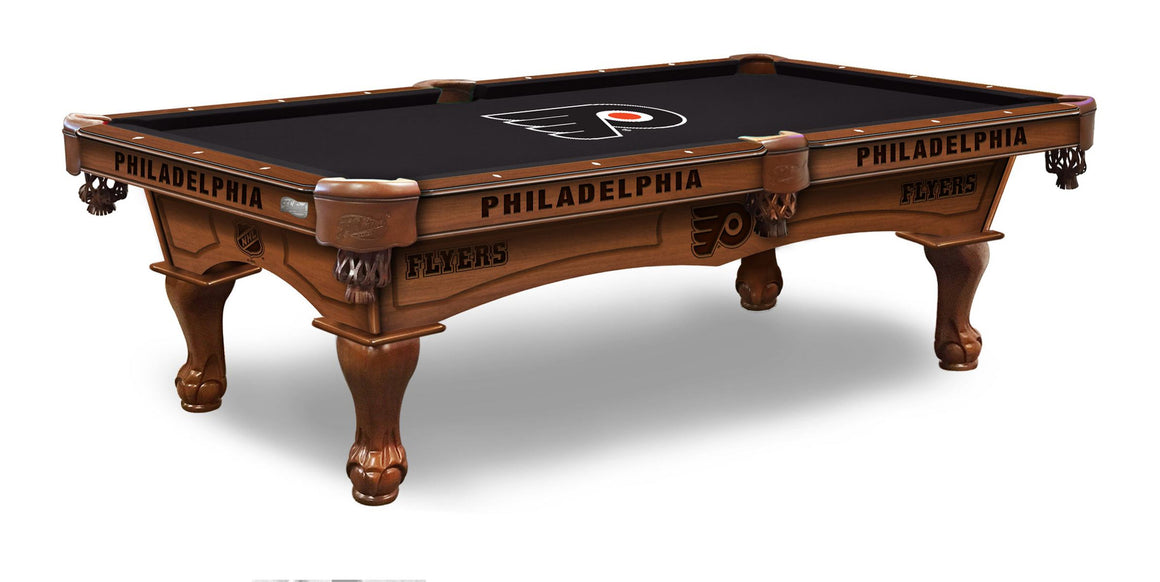 Philadelphia Flyers NHL 8' Pool Table with Bonus Cue Rack ! - Man Cave Boutique
