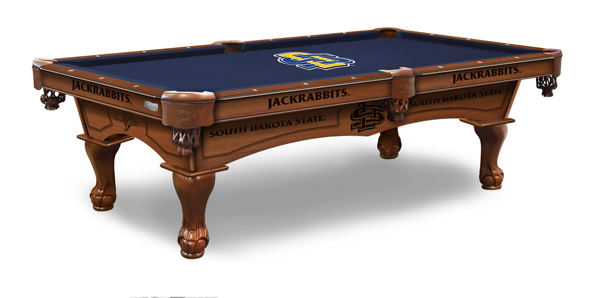 South Dakota State University 8' Pool Table with Bonus Cue Rack - Man Cave Boutique