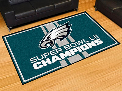 Rug 5x8 Philadelphia Eagles NFL Superbowl Champions - Man Cave Boutique
