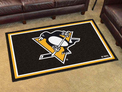Rug 4x6 Pittsburgh Penguins NHL - Man Cave Boutique