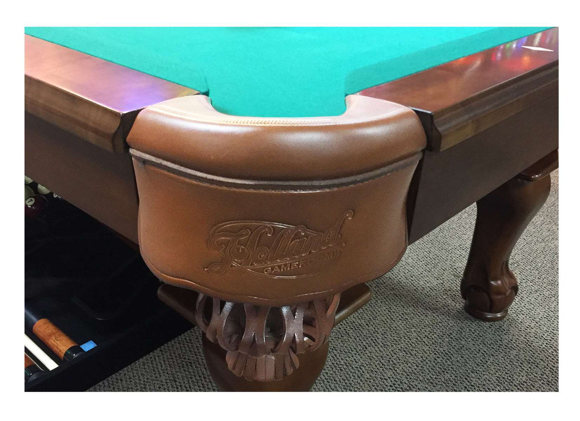 Northern Michigan university 8' Pool Table with Bonus Cue Rack - Man Cave Boutique
