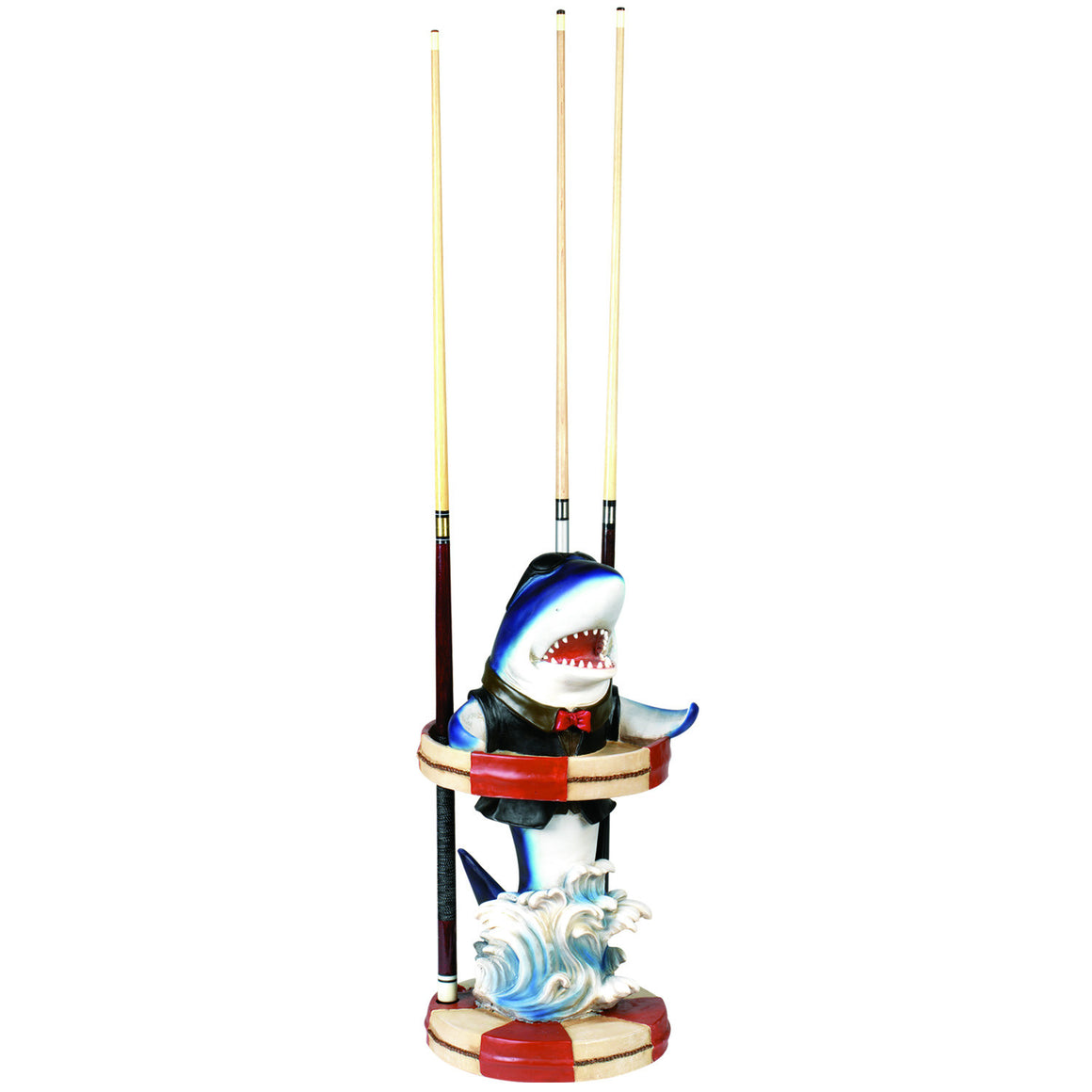 Blue Shark Pool Cue Holder - Man Cave Boutique