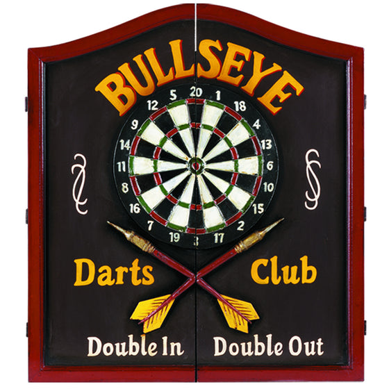 Bullseye Dartboard Case / Solid Wood Dartboard Cabinet 24 x 27 in - Man Cave Boutique