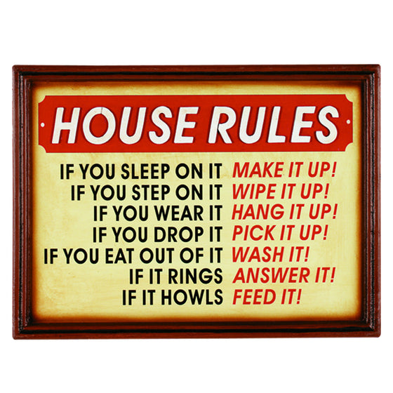 HOUSE RULES - Man Cave Boutique