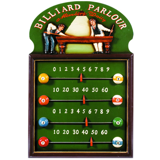 Billiard Parlour Scoreboard - Man Cave Boutique