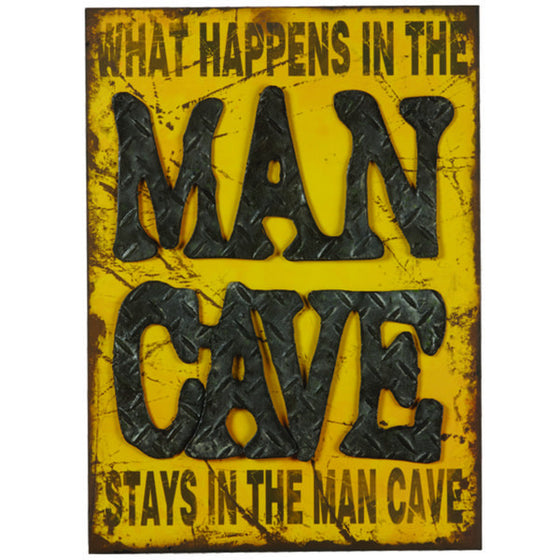 METAL SIGN-WHAT HAPPENS IN THE MAN CAVE - Man Cave Boutique