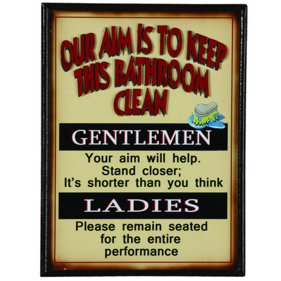 OUR AIM IS TO KEEP THIS BATHROOM CLEAN - Man Cave Boutique