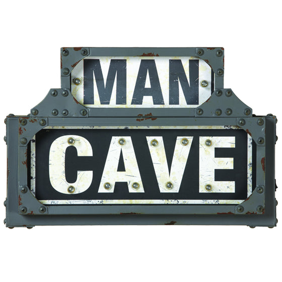 METAL SIGN-MAN CAVE 18.5 x 2.5 x 12.5 - Man Cave Boutique