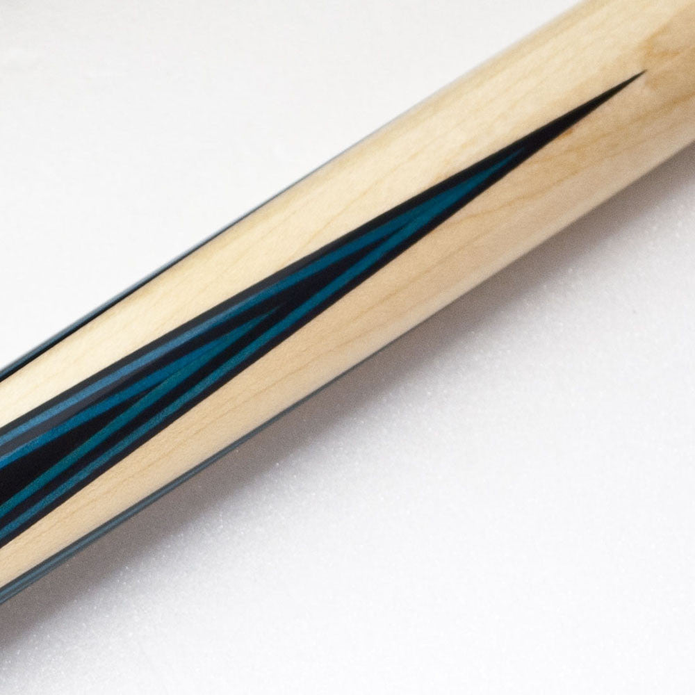 RAID Splice Pool Cue Maple Spliced Rosewood, 4 Inlay Points w/Blue Veneers - Man Cave Boutique