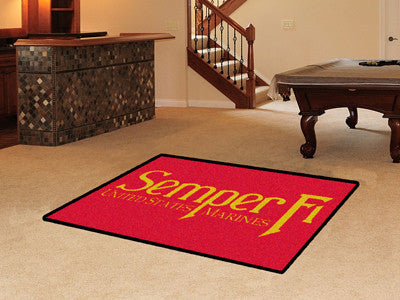 Rug 4x6 US Marines Semper Fi - Man Cave Boutique