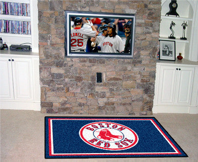 RUG 5x8 Boston Red Sox MLB - Man Cave Boutique