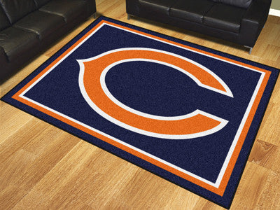 Rug 8x10 Chicago Bears NFL - Man Cave Boutique