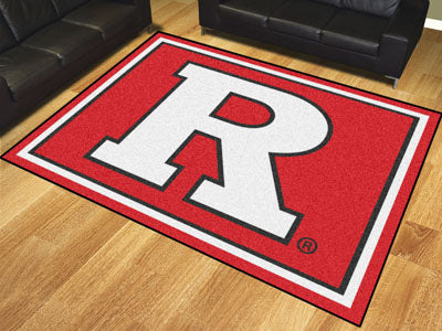 Rug 8x10 Rutgers University - Man Cave Boutique