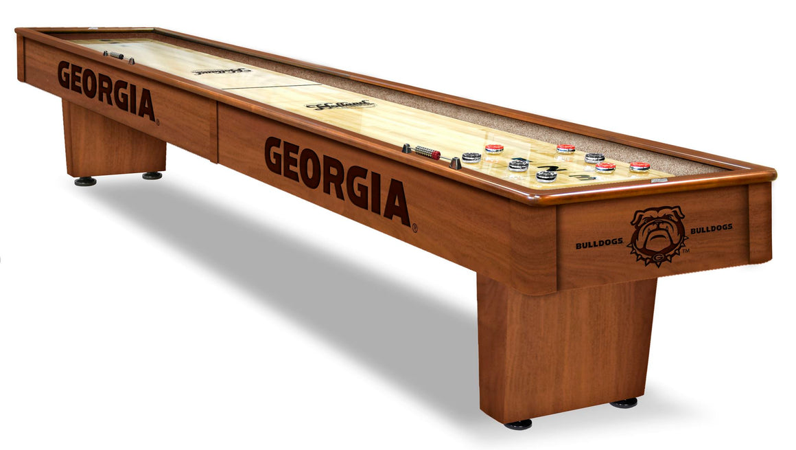 Georgia Bulldogs 12' Shuffleboard Table - Man Cave Boutique