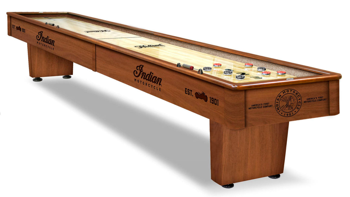 Indian Motorcycle Logo 12' Shuffleboard Table - Man Cave Boutique