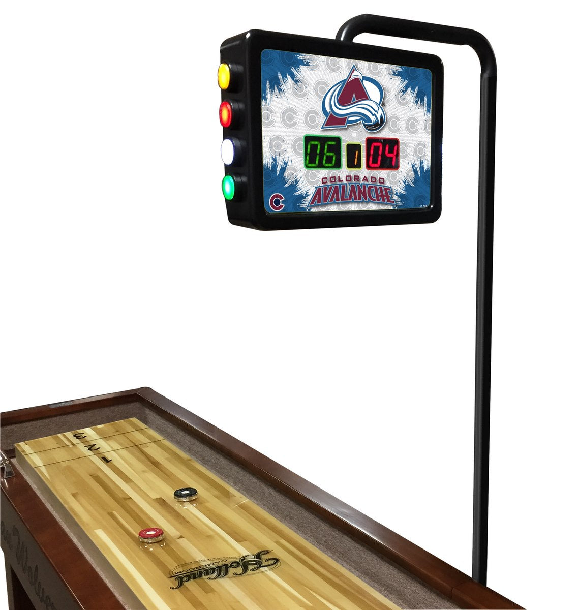Colorado Avalanche NHL Electronic Shuffleboard Scoring Unit - Man Cave Boutique