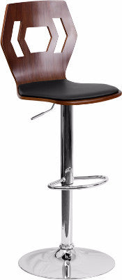 Walnut Adjustable Height Bar Stool  SD-2162-WAL-GG - Man Cave Boutique