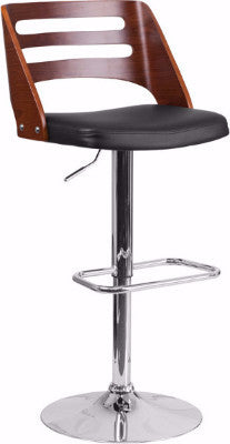 Walnut Adjustable Height Bar Stool SD-2702-WAL-GG - Man Cave Boutique