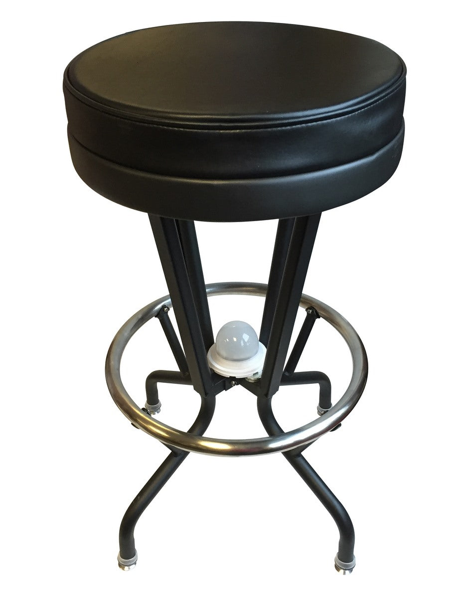 San Jose Sharks NHL Logo LED Lighted Bar Stool - Man Cave Boutique