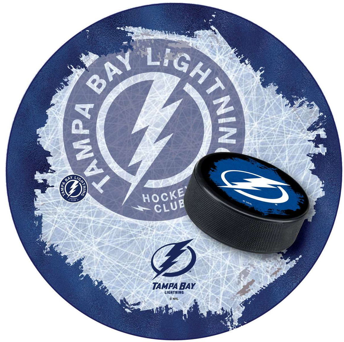 Tampa By Lightning NHL Logo LED Lighted Pub Table - Man Cave Boutique