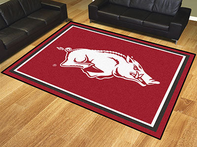Rug 8x10 University of Arkansas Razorbacks - Man Cave Boutique